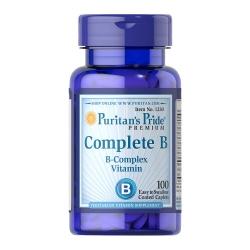 Puritan's Pride Complete B B-Complex vitamin วิตามินบีรวม 100 เม็ด วิตามินบี 7 ชนิด บำรุงร่างกายและระบบประสาทค่ะ