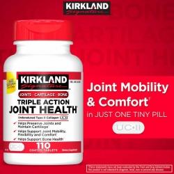 Kirkland Triple action Joint Health 110 เม็ด แก้ปวดข้อ ทานได้ 110 วันค่ะ เม็ดเล็ก ทานง่าย สูตรเดียวกับ Move free ultra ค่ะ