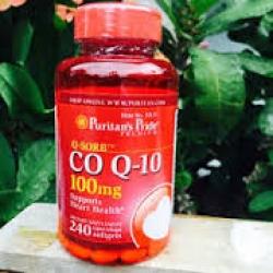 Puritan's Pride Q-Sorb CO Q10 100 mg. ขนาด 240 เม็ด(rapid release softgel) ดูดซึมง่าย จากอเมริกาค่ะ