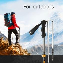 Trekking Pole Carbon And Aluminum Z Shape Folding Poles