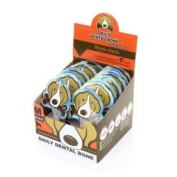 PET2GO ขนมขัดฟันสุนัข เดลี่ เดนทัลโบน รสนม 28g (14ชิ้น/กล่อง)