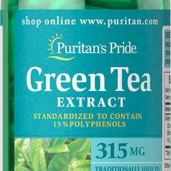 Puritan's Pride Green Tea Extract 315 mg. 100 เม็ด ชาเขียวในรูปแบบวิตามิน ต่อต้านอนุมูลอิสระและยังช่วยควบคุมน้ำหนักอีกด้วยค่ะ สำเนา