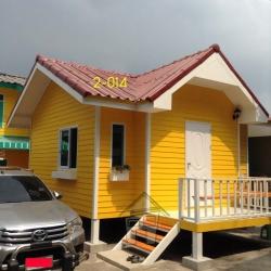2-014 บ้านน็อคดาวน์ - ทรงจั่ว 4.5x5 เมตร