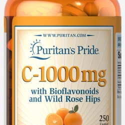Puritan's Pride C-1000 mg with Bioflavonoids and Wild Rose Hips 250 coated caplets วิตามินซี จากอเมริกาค่ะ