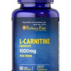 Puritan's Pride L-CARNITINE 1,000 mg. ขนาด 90 เม็ด ช่วยเผาผลาญไขมันส่วนเกินค่ะ