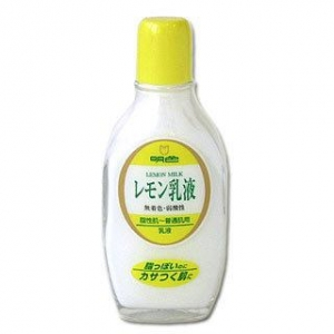 Meishoku Lemon milk 158 ml.ครีมน้ำนมบำรุงมะนาวของเมโชกุช่วยควบคุมความมันและช่วยลดความมันบนใบหน้าจากญี่ปุ่นค่ะ