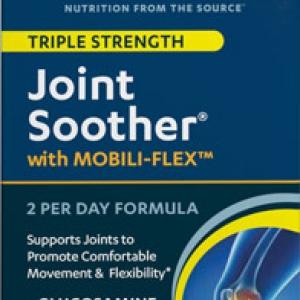 แพคเกจใหม่ล่าสุด ไซค์ใหญ่สุดค่ะ Vitamin World Joint Soother Triple Strength 270 Coated Cablets มีครบทั้ง 3 ตัวหลักๆที่คนมีปัญหาเรื่องข้อต้องการ Glucosamine ,Chondroitin ,MSM จากอเมริกาค่ะ