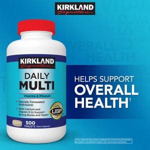 แพคเกจใหม่ล่าสุด Kirkland Daily Multi Vitamins & Minerals วิตามินรวม 500 เม็ด Family size ขวดใหญ่ สุดคุ้มค่ะ