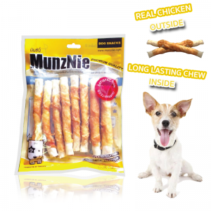 ขนมสุนัข MUNZNIE อกไก่พันครันชี่ 8 ชิ้น