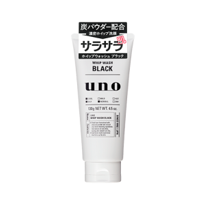 แพคเกจใหม่ SHISEIDO UNO MEN CHARCOAL BLACK CLEANER 130g