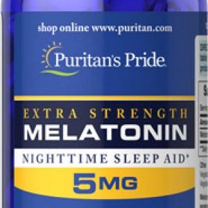 Puritan's Pride Melatonin 5 mg Extra Strength 120 Tablets วิตามินคลายเครียด ช่วยให้นอนหลับสบาย หลับได้นานขึ้น จากอเมริกาค่ะ