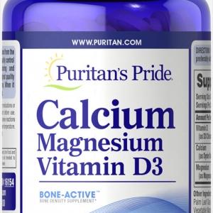 Puritan's Pride Calcium Magnesium Vitamin D3 ขนาด 120 เม็ด บำรุงกระดูก ป้องกันโรคกระดูกพรุนและข้อเข่าเสื่อม จากอเมริกาค่ะ
