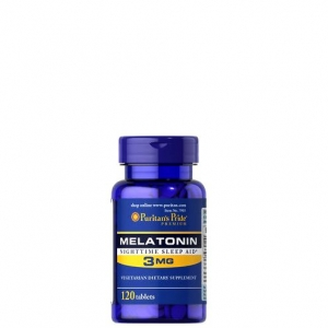Puritan's Pride Melatonin 3 mg 120 Tablets วิตามินคลายเครียด ช่วยให้นอนหลับสบาย หลับได้นานขึ้น จากอเมริกาค่ะ