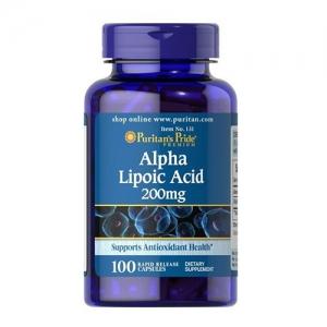 Puritan's Pride Alpha Lipoic Acid 200 mg. 100 เม็ด สุดยอดวิตามินต่อต้านอนุมูลอิสระ จากอเมริกาค่ะ