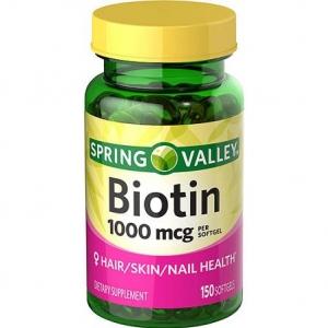 Spring valley Biotin 1000 mcg, 150 Tablets ช่วยบำรุงผิว ผม และเล็บให้สวย สุขภาพดี จากอเมริกาค่ะ