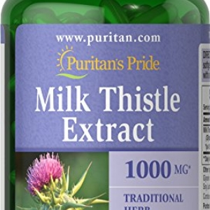 Puritan's Pride Milk Thistle 1000 mg 180 เม็ด วิตามินบำรุงตับ ปกป้องเซลล์ตับจากการถูกทำลายค่ะ