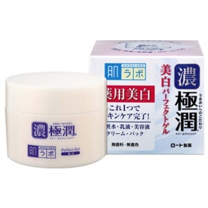 Hada Labo whitening perfect gel กระปุก 100 g และ ถุงเติม 80 g made in Japan