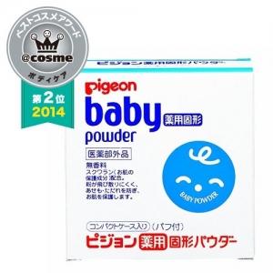Pigeon baby powder 45 g. แป้งเด็ก พีเจ้น เนื้อละเอียด พร้อมพัฟ คุมมัน หอมอ่อนๆ จากญี่ปุ่นค่ะ