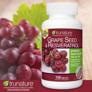 Grape seed extract ของ Trunature 150 softgels อุดมไปด้วยวิตามิน A และสารต้านอนุมูลอิสระมากมาย
