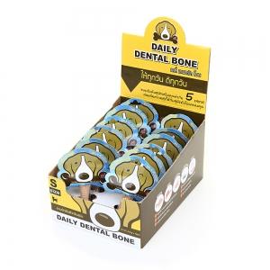 PET2GO ขนมขัดฟันสุนัข เดลี่ เดนทัลโบน รสนม 2x11g (12ชิ้น/กล่อง)