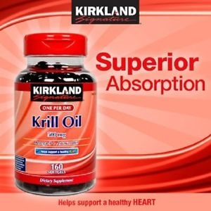 Kirkland Krill Oil Omega 3 & Astaxanthin 160 Softgels น้ำมันกุ้งแดงจากอเมริกาค่ะ