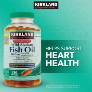 Kirkland Wild Alaskan Fish Oil 1,400 mg. 230 softgels จากธรรมชาติพร้อมกรดอะมิโนที่มีประโยชน์มากมาย ใหม่ล่าสุดจากอเมริกาค่ะ