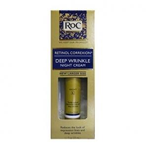 ROC Retinol Correcxion Deep Wrinkle Night Cream 1.1 fl oz. (33 ml) ครีมลบเลือนริ้วรอย ร่องลึกบนใบหน้าที่ได้ผลดีมากๆค่ะ