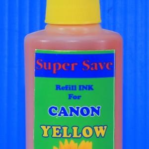 """น้ำหมึก Super Save 100 cc for CANON """"YELLOW"""""""