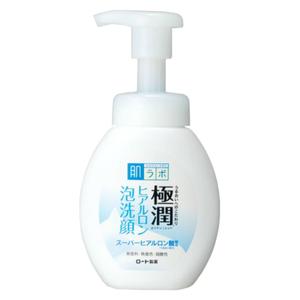 แพคเกจใหม่ Hadalabo Gokujyun Super Hyaluronic Acid Foaming Wash 160ml ล้างหน้าปั้มโฟมออกมาเลย