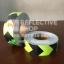 สติ๊กเกอร์สะท้อนแสง ลายรังผึ้งลูกศรเว้นขอบ สีเขียวนีออนดำ ขนาด 2 นิ้ว thumbnail 1