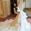 ชุดแต่งงาน ไหล่ปาด กระโปรงระบายเป็นชั้น ๆ thumbnail 12