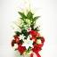 แจกันดอกไม้ประดิษฐ์โทนแดงใหญ่ รหัส 4006