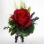 แจกันดอกไม้ประดิษฐ์เล็กกุหลาบแดง รหัส 4020