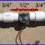 """เซ็นเซอร์วัดอัตราการไหลของน้ำ 1-30ลิตรต่อนาที Flowmeter Hall sensor Water control flow sensor 1/2"""" thumbnail 2"""