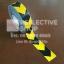 สติ๊กเกอร์สะท้อนแสง ลายรังผึ้งลูกศรสีเหลืองดำ ขนาด 2 นิ้ว thumbnail 1