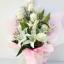ช่อดอกกุหลาบ-ลิลลี่ขาวกลาง