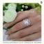 แหวนเพชรCZ แหวนเพชรรัสเซีย ประดับมุกแท้ thumbnail 1