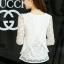 เสื้อลูกไม้สีขาวแต่งด้วยผ้าชีฟอง thumbnail 3