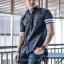 BIG เสื้อเชิตยีนส์ SALEMAN®Original เสื้อเชิตคุณภาพ สีเทาดำ SSY110
