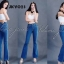 กางเกงยีนส์ขาม้าเอวสูง สียีนส์ฟอกกลาง ทรงสวย ของแท้ถ่ายจากงานจริง ผ้ายีนส์ยืดเนื้อดี มี SIZE S M L XL