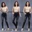 กางเกงยีนส์ทรงเดฟ สีดำ แต่งขาด ฟอกด่าง ตัดปะเก๋ๆ ถ่ายจากงานจริง ผ้ายีนส์ยืดเนื้อดี มี SIZE S,M,L