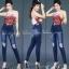 กางเกงยีนส์แท้เอวสูงขาเดฟ สียีนส์ฟอกด่าง สกิดขาดเก๋ๆ ผ้ายีนส์ยืดเนื้อดี ใส่แล้วสวยเพรียวขาเรียวสวย มีSIZE S M L XL