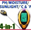 เครื่องวัดค่ากรดด่างในดิน เครื่องวัดกรดด่าง มิเตอร์วัดค่ากรดด่าง 4in1 pH Moisture Light Soil Meter Thermometer °C °F thumbnail 1