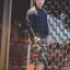 กางเกง Jogger ขาจั๊มสามส่วน พรีเมี่ยม ผ้า วอร์ม รหัส WT 379 BR สีทหาร แถบ ดำ แดง