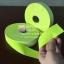 แถบผ้าสะท้อนแสง สีเขียวมะนาว หน้ากว้าง 1, 1.5, 2 นิ้ว thumbnail 3