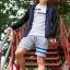 กางเกงขาสั้น พรีเมี่ยม ผ้า วอร์ม รหัส WT209 ฺBlue สีเทา แถบ ฟ้า