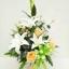 แจกันดอกไม้ประดิษฐ์กลางขาว รหัส 4013