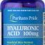 Puritan's Pride Hyaluronic acid 100 mg 60 เม็ด วิตามินบำรุงผิว จากอเมริกาค่ะ thumbnail 1