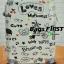 กระเป๋าเดินทาง ลาย love สีขาว ขนาด 24 นิ้ว thumbnail 1