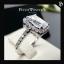 แหวนเพชรCZ แหวนเพชรเม็ดเดียวล้อมเตย สำเนา thumbnail 1